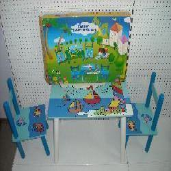Столик E 03-2100 дерев'яний, 2 стільця